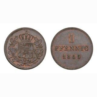 Deutschland Bayern 1 Pfennig  1855