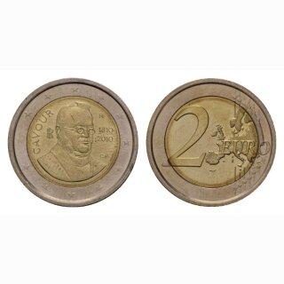 Italien 2 Euro 2010 Graf von Cavour Gedenkmünze BI
