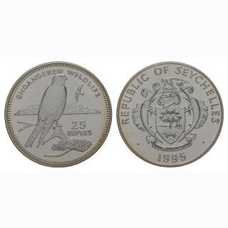 Seschellen 25 Rupees 1995 Turmfalke