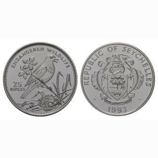 Seschellen 25 Rupees 1993 Elster