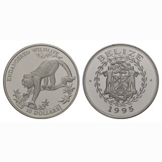 Belize 10 Dollars 1995 Affe