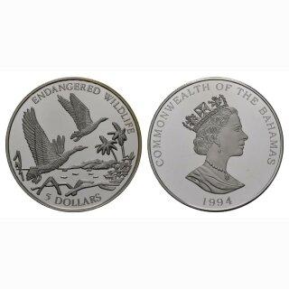 Bahamas 5 Dollars 1994 Ente