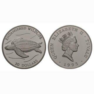 Tuvalu 20 Dollars 1993 Schildkröte