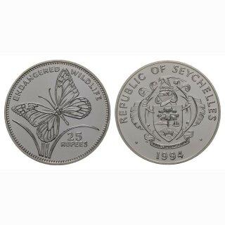 Seschellen 25 Rupees 1994 Schemtterling