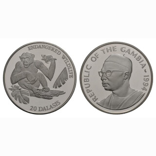 Gambia 20 Dalasis 1994 Affe