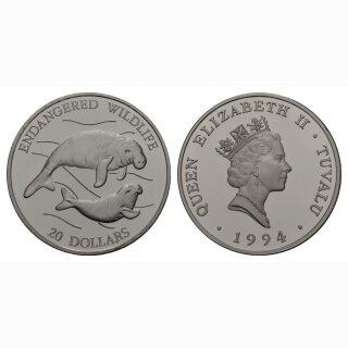 Tuvalu 20 Dollars 1994 Seekuh