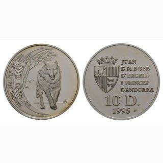 Andorra 10 Diners 1995 Wolf