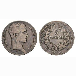 Frankreich  5 Francs 1806 A Napoleon