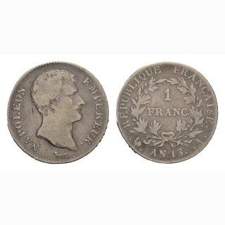 Frankreich 1 Franc An 13 A Napoleon