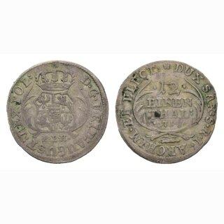 Deutschland Sachsen 1/12 Thaler 1715 EPH