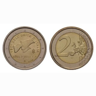 Italien 2 Euro 2011 150 Jahre Republik Gedenkmünze BI