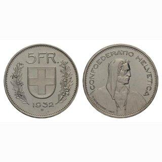 Schweiz 5 Franken 1932 Tell