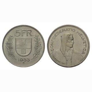 Schweiz 5 Franken 1933 Tell
