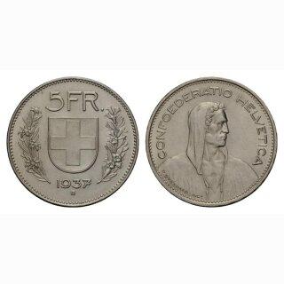 Schweiz 5 Franken 1937 Tell