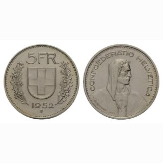 Schweiz 5 Franken 1952 Tell