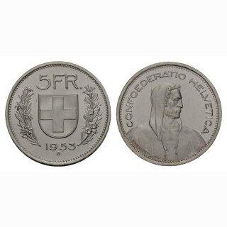 Schweiz 5 Franken 1953 Tell