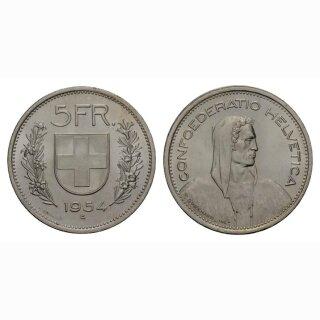 Schweiz 5 Franken 1954 Tell