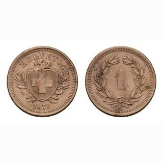 Schweiz 1 Rappen 1877 B