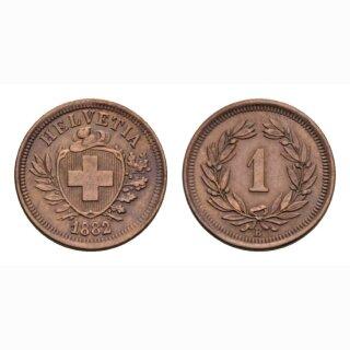 Schweiz 1 Rappen 1882 B