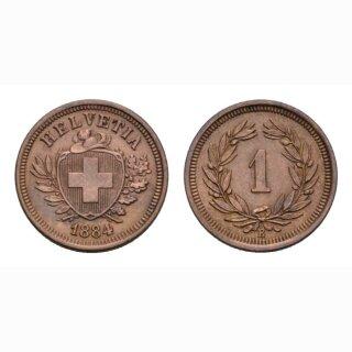 Schweiz 1 Rappen 1884 B