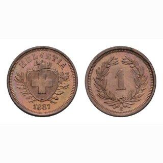 Schweiz 1 Rappen 1887 B
