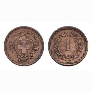 Schweiz 1 Rappen 1889 B