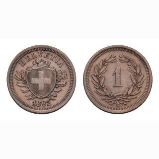 Schweiz 1 Rappen 1892 B