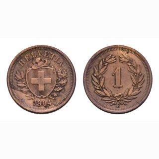 Schweiz 1 Rappen 1904 B