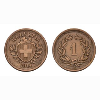 Schweiz 1 Rappen 1914 B