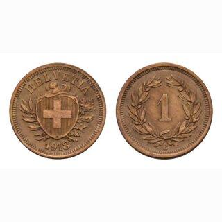 Schweiz 1 Rappen 1918 B