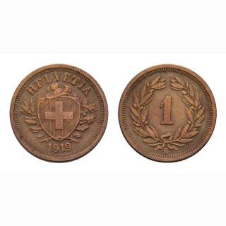 Schweiz 1 Rappen 1919 B