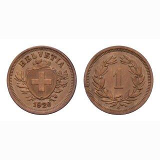Schweiz 1 Rappen 1920 B