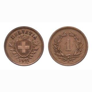 Schweiz 1 Rappen 1921 B