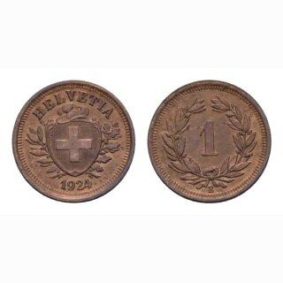 Schweiz 1 Rappen 1924 B