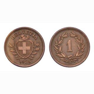 Schweiz 1 Rappen 1925 B