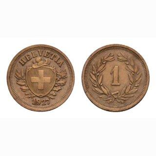 Schweiz 1 Rappen 1927 B