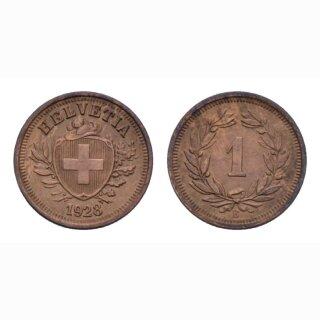 Schweiz 1 Rappen 1928 B