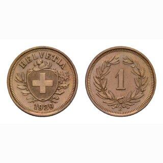 Schweiz 1 Rappen 1929 B