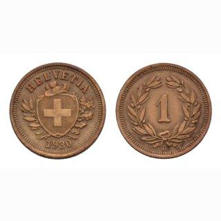 Schweiz 1 Rappen 1930 B