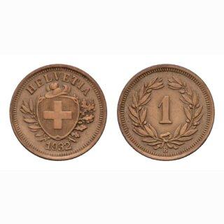 Schweiz 1 Rappen 1932 B