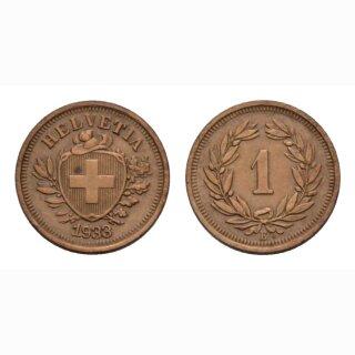Schweiz 1 Rappen 1933 B