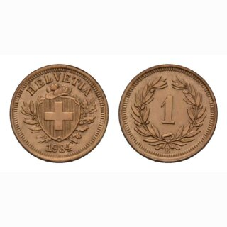 Schweiz 1 Rappen 1934 B