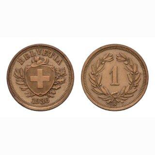 Schweiz 1 Rappen 1936 B