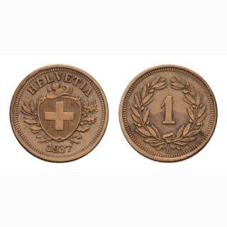 Schweiz 1 Rappen 1937 B