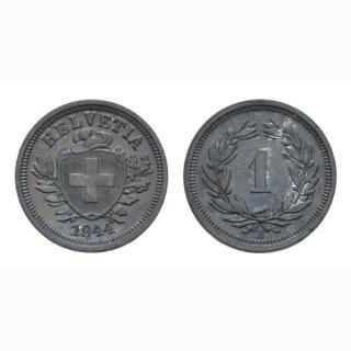 Schweiz 1 Rappen 1944 B