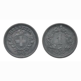 Schweiz 1 Rappen 1945 B