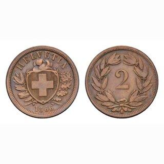 Schweiz 2 Rappen 1866 B