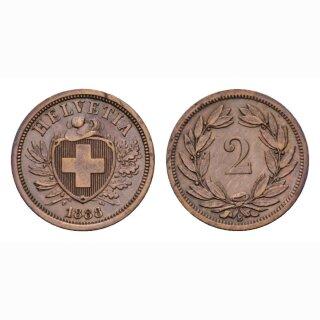 Schweiz 2 Rappen 1888 B