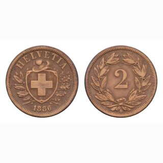 Schweiz 2 Rappen 1886 B