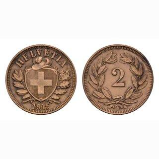 Schweiz 2 Rappen 1915 B